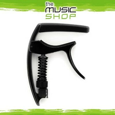 New D'Addario Planet Waves NS Tri-Action Guitar Capo - Black - CP-09
