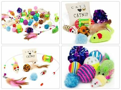 14Pcs Set Pet Cat Lot Bulk Mice Balls Catnip Kitty Kitten Play Interactive Toys