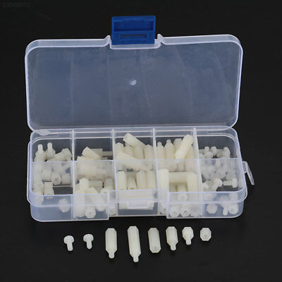397B 120PCS White Nylon A-type M3 M-F Hex Screw Screw-Caps Kit Set Fastening Too