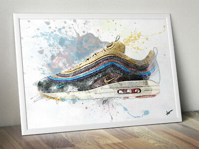 Wotherspoon Nike Air Max 97 / Trainer / Sneaker Wall Art Print / Poster