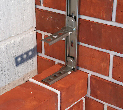 STAINLESS STEEL WALL STARTER KIT Brick Block Extension Interior Exterior Tie In