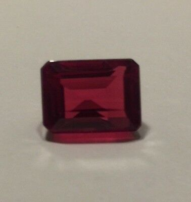 Certified Natural Ruby 6.58 Ct Emerald Shape RARE Transparent