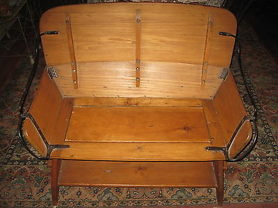 Antique Hall Bench Seat Wood&Iron Buggy/Stagecoach