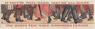 1900s Ball-Band Mishawaka Boots Folding Trade Brochure - Indiana