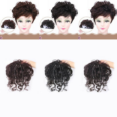 Fashion Clip In Wavy Curly Real Human Hair Top Toupee Topper Hair Piece Wigs
