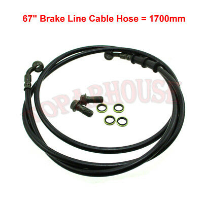 "67"" Hydraulic Brake Line Cable Hose ATV Quad Dirt Bike Go Kart Buggy Motorcycle"