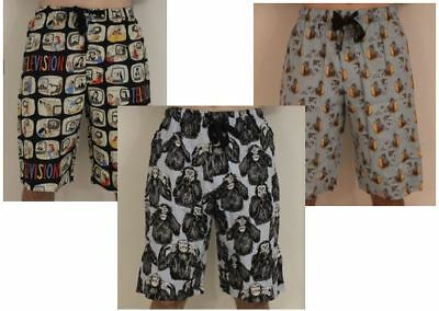 Mens SLEEP SHORTS Trunks Boxers PJ Sleepwear Underwear 3 designs avail S M L XL
