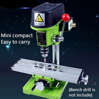 Multifunction Milling Machine Bench Mill Drill Vise Fixture Adjust Working Table