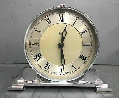 Vintage Smiths SEC Electric Sectric Art Deco Mantel Clock Circa 1930s Chrome