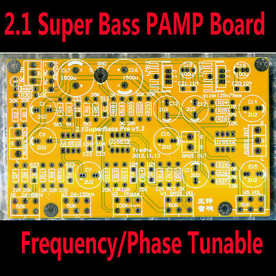 2.1 Channel Super Bass Pre-Amplifier Bare Board Frequency Phase Tunable HIFI PCB