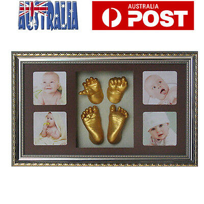 3D Baby Casting Kit Plaster Hand Foot Prints Keepsake Photo Frame Shadowbox AU
