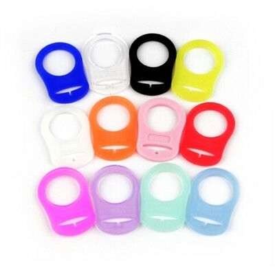 5xSilicone Button Baby Dummy Pacifier Holder Clip Adapter F/MAM Ring BPA Free BA