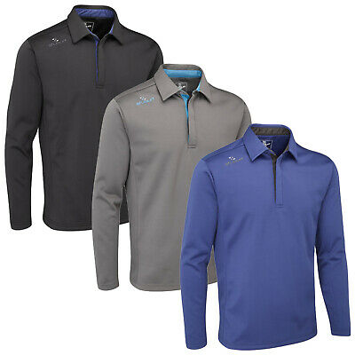 Stuburt Mens Sport Long Sleeve Polo Shirt Windproof Thermal Insulation Golf Polo