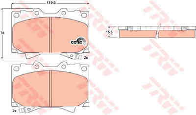 TRW Front Brake Pads Set GDB3197 - BRAND NEW - GENUINE - 5 YEAR WARRANTY