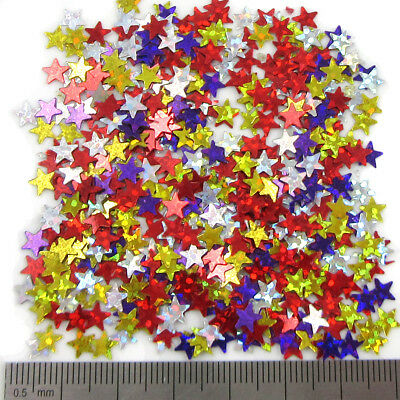 "15 Grams ""5mm STAR"" Confetti Holographic Wedding Sequins Decorations Party Table"
