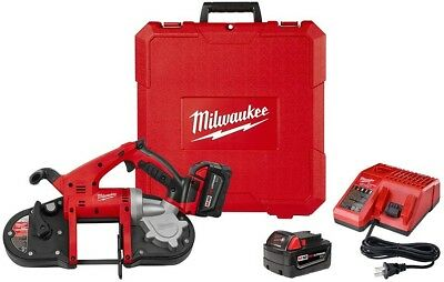 Milwaukee Portable Band Saw Kit 18-Volt Lithium-Ion Drop Resistant Pulley Guard
