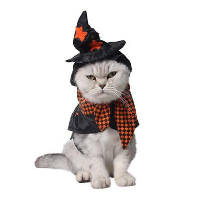 Halloween Pet Apparel Witch Costume Dog Coat Jacket Cosplay Outfit Hoodie Tartan
