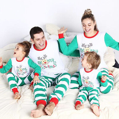 USA Family Matching Christmas Pjs Pyjamas Pajamas Set Xmas Sleepwear Nightwear