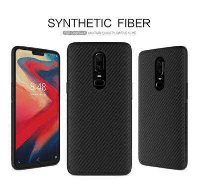 NILLKIN Unique Full Cover Ultra Slim Synthetic Carbon Fiber Case For OnePlus 6
