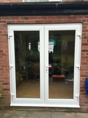 Patio French Doors White Upvc Used 22m Wide 20600 Picclick Uk