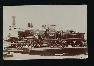Railway STEPHENSON Engine #279 on turntable pre1919 RP PPC by Pouteau