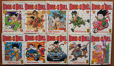 Dragon Ball Manga Comic Viz Graphic Novel Volume 1 to 10 by Akira Toriyama