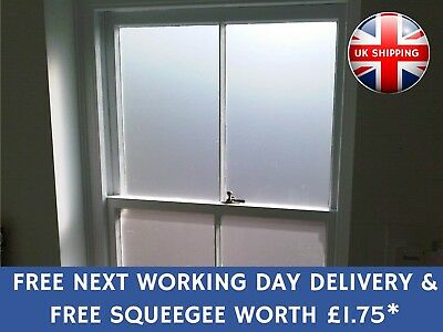 Frosted Glass Privacy Window Film With Next Working Day Delivery & FREE SQUEEGEE