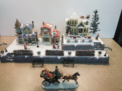 Christmas Village Display.Christmas Village Display Platform For Lemax Dept 56 Dickens North Pole