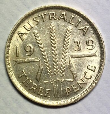 1939 Australian Silver Threepence - Extremely Fine.