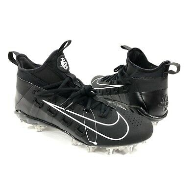 Nike Huarache 6 Elite Lacrosse Lax Size 10 Black / White Cleats 880409-010