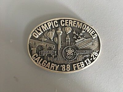 No 124 of 350 LIMITED ED. OLYMPIC CEREMONIES CALGARY '88 BELT BUCKLE