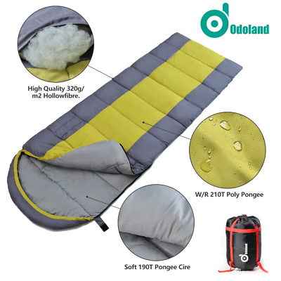 Lightweight Gear Single Camping Envelope Sleeping Bag LazyBed Travel Hiking+Caes