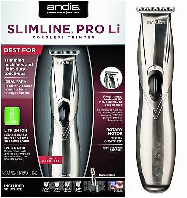 Andis Slimline Pro Li Cordless Lightweight Trimmer CL-32400 (Model D-8) 120V