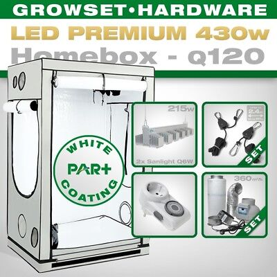 LED Grow Set Homebox Ambient Q120 + 2x Q6W, 430W