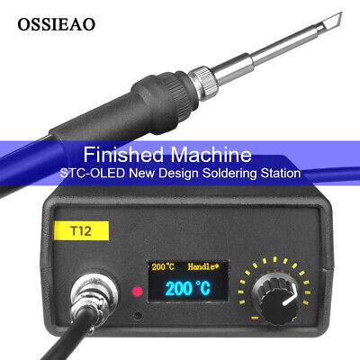 110V 220V OLED Digital Soldering Iron Station & T12 Handle Finished Controller