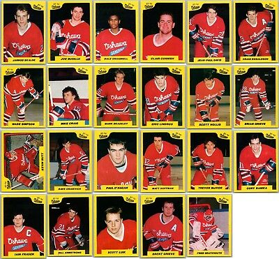 1989-90 7TH INNING SKETCH OSHAWA GENERALS TEAM SET LOT Eric Lindros Pre Rookie