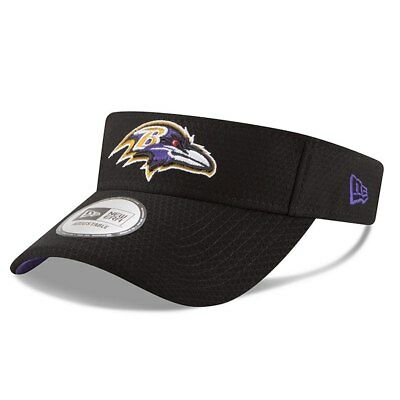 quality design e1e2b 1b52d Men s New Era Black Baltimore Ravens 2018 Training Camp Primary Visor