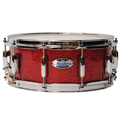 """Snare Drum Pearl Masters Maple Complete 14"""" x 5,5"""" Snare Inferno Red Sparkle Sna"""