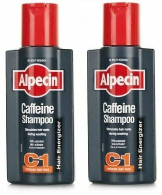Alpecin Caffeine Shampoo - 250ml - Pack of 2