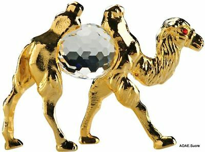 Handcrafted Bedouin arabic gift Camel middle eastern Decor Gold Crystal Asfour