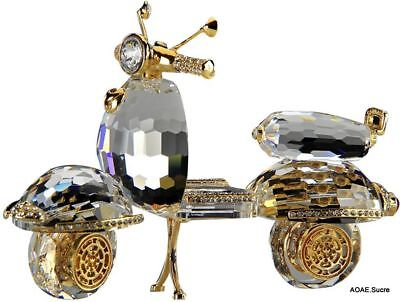 Handcrafted Scooter original Decor kids bike Gold gift fancy Crystal Asfour