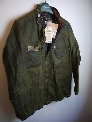 Barbour Deus Ex Machina Devenport Wax Jacket, New With Tags, Fern Green, Medium