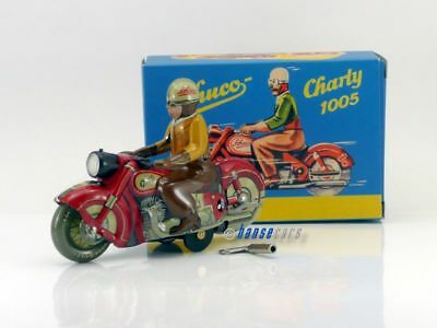 Schuco Classic Charly 1005 Motorrad Blechmodell LED 2.000 rot S01985