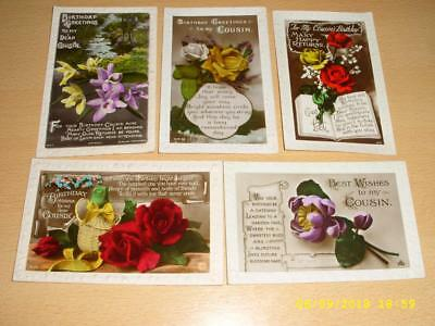 Collection Of Vintage Greeting Postcards - Relationships -  Cousin
