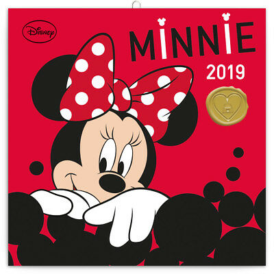 """Disney Minnie Mouse Calendar 2019 (Official Disney) """"free"""" Uk Tracked  Delivery"""