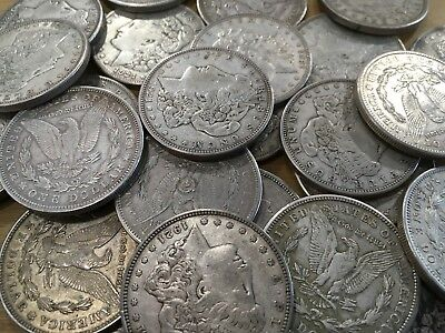 1921- P D or S Morgan 90% Silver Dollar $1 - VG-XF Grades Problem Free Coins