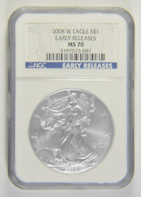 2008-W Silver American Eagle NGC MS-70 Early Releases
