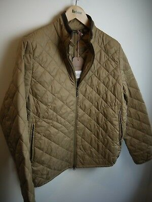 Barbour International Steve McQueen Men's Boxer Quilt Jacket, NWT, Brown, Large