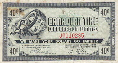 1962 Canadian Tire 40 Cent Note - CTC 6-HI - F