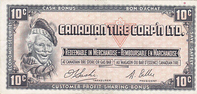 1961 Canadian Tire 10 Cent Note - CTC S1-C - V F
